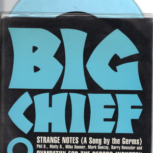 Big Chief - Strange Notes - Blue vinyl 1 sided hand etched on Sympathy For The Record Industry