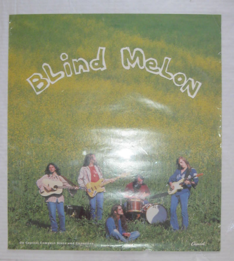 Blind Melon 1992 Promotional Record Store Poster Round Flat Records