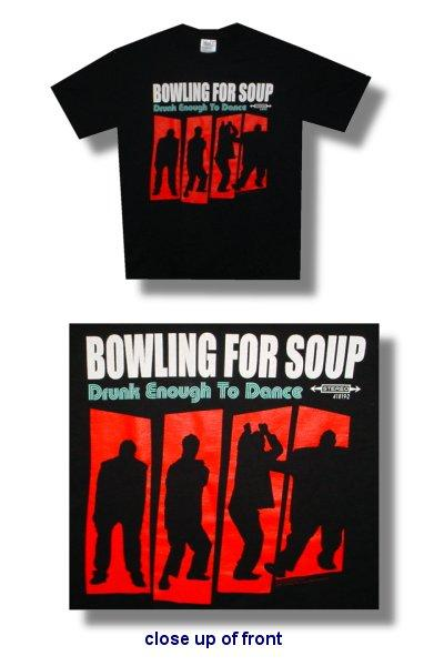 Bowling For Soup Drunk Enough To Dance Shirt Round Flat Records