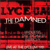 The Damned - Live At The Lyceum 1981 - Cassette tape on Restless Records