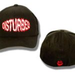 Disturbed - Red Face Logo - Black Baseball Cap