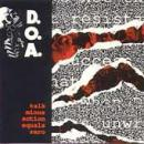 D.O.A. - Talk Minus Action Equals Zero - Cassette tape on Restless Records