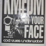 KMFDM - In Your Face - 1995 Promotional tour poster