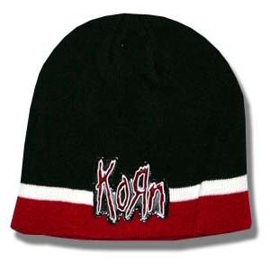 Korn - Maroon White Stripe - Beanie