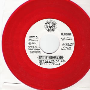 Monster Voodoo Machine - Get On With It - Red vinyl promo 7 inch on Invisible Records