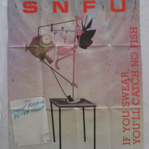 SNFU - Gone Fishin' Tour Poster - Vintage Better Youth Organization Records