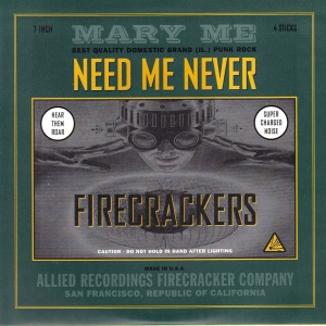 Mary Me - Need Me Never - Allied Recordings 7 Inch Vinyl Record