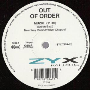 Out Of Order - Muzik