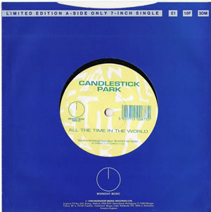 Candlestick Park - All The Time In The World - Rare 1 sided vinyl 7 inch on Midnight Records