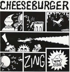 Cheeseburger - Sock In Mouth - Seven Inch on Dionysus Records