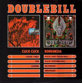 Click Click / Borghesia - Double Bill - Cassette tape on Wax Trax Records