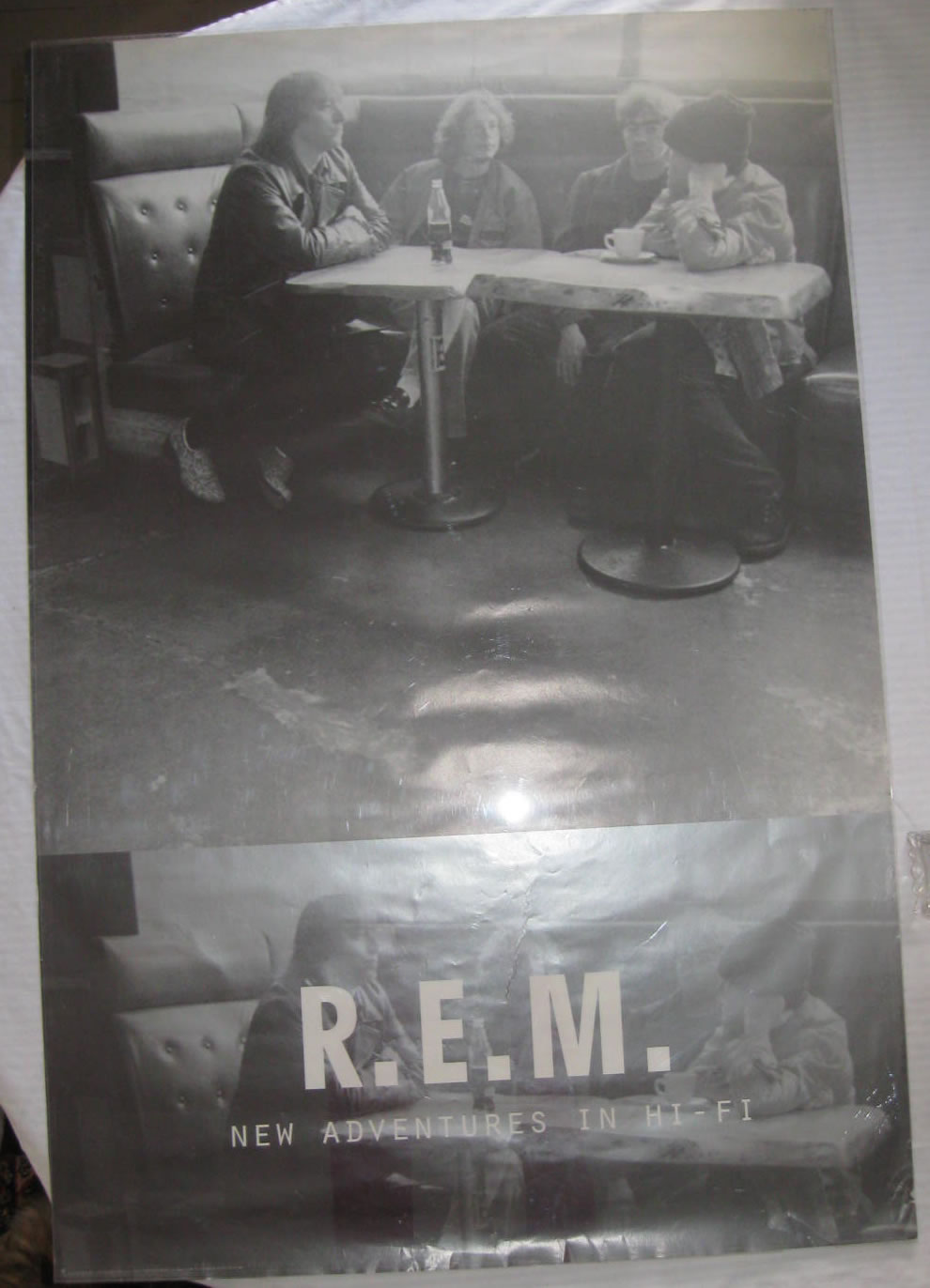 REM - New Adventures in Hi-Fi - 1996 record store promo poster