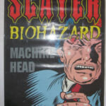 Slayer Biohazard Machine Head - 1995 promotional and tour poster