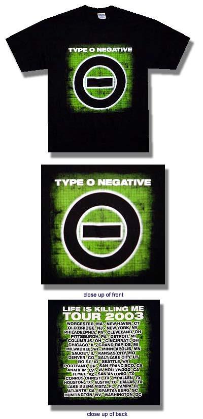 Type O Negative - Life Is Killing Me 2003 Tour - Shirt