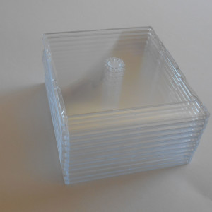 25 Clear Tray Compact Disc Single Slimline Cases